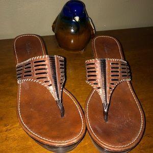 Tan Cole Haan sandals